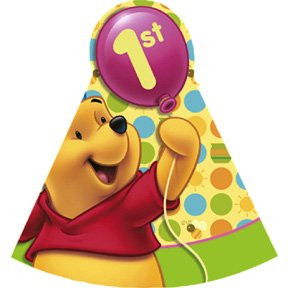 POOH'S FIRST BDAY CONE HAT