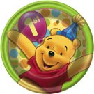 "POOH'S FIRST BDAY DESSERT PLATE (7"")"