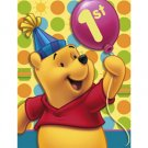 POOH'S FIRST BDAY INVITATION