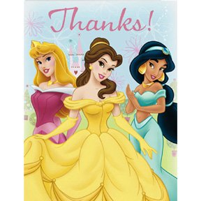 DISNEY PRINCESS FTF THANK YOU NOTE