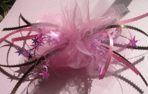 Girls Boutique Hair Bow Pink and Brown For Dance, Ballet,Costume