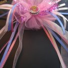 Disney Cinderella Bottle Cap Hair Bow Pink Dance, Ballet, Costume