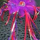 Disney Little Mermaid Ariel Bottle Cap Fancy Hair Bow Dance,Ballet, Costume,Dress up