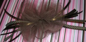 Girls Boutique Hair Bow Chocolate Brown Polka Dot for Dance,Ballet, Costume Dress Up Everyday
