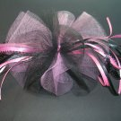 Dance Ballet Black Pink Hair Bow great for Recital
