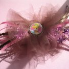Girls Boutique Hair Bow Disney Cinderella Bottle Cap Brown Pink Dance, Ballet,Costume