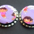 Set of 4 Dora The Explorer Bottle Caps