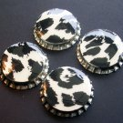 Set of 4 Animal Print Bottle Caps