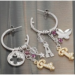 E0048 - Heart & Key Earrings