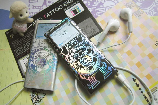 L0056 - LAMB LAMB IPOD 2nd generation skin [Robot Silver]