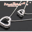 C0089 - Double Crystal Heart Necklace