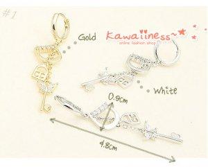 E0091 - Butterfly Key Lock Earrings