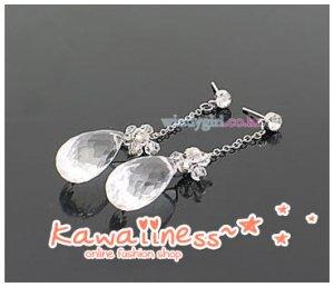 E0093 - KDrama Snow Queen - Seong Yu Ri Crystal Drop Earrings