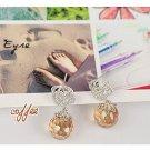 E0097 - Rose Bud Earrings (Coffee)