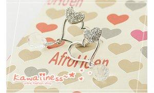 E0104 - Heart Kiss Earrings