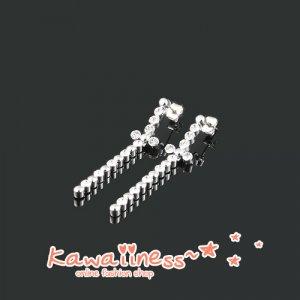 E0094 - Kim Jung Hwa Cross Earrings