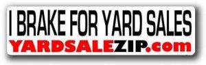 Yard Sale Zip Bumper Sticker