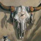 Bulls Skull Wall Clock