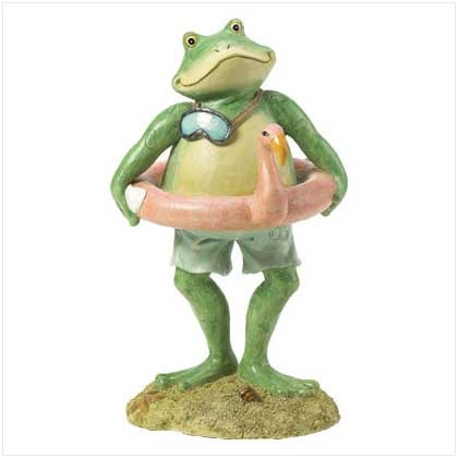 Frog Swimmer Statue