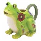 Floral Frog Pitcher