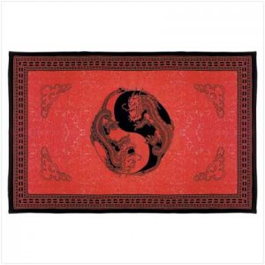 Ying Yang Dragon Print Sheet