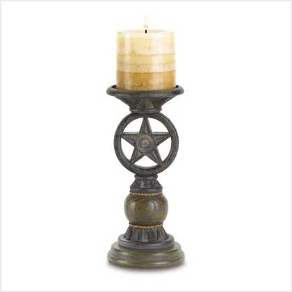Western Star Candleholder