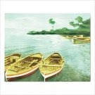 Row Boat Cove Print