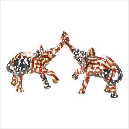 Patriotic Elephant Pair