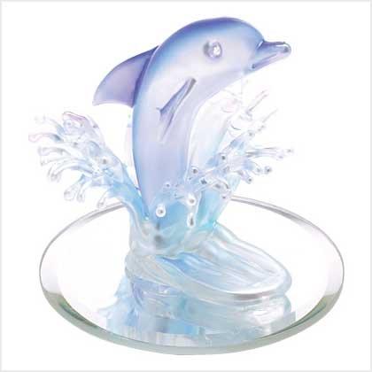 Art Glass Dolphin Figurine
