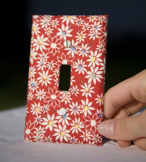 Fabricated Switch Plate (Fifties Flowers)