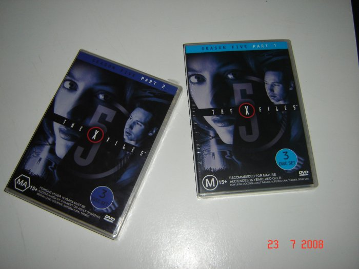 Xfiles Season 5 Parts 1 & 2 (3 disc each) AS NEW