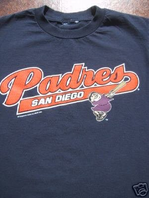 SAN DIEGO PADRES swingin' father YOUTH 7-8 T-SHIRT