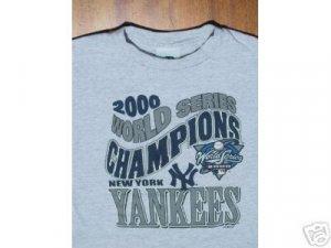 NY YANKEES 2000 World Series Champs YOUTH M(8) T-SHIRT