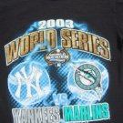 2003 World Series YANKEES v MARLINS youth 10-12 T-SHIRT