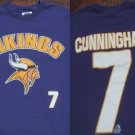 MINNESOTA VIKINGS cunningham #7 youth 8-10 T-SHIRT