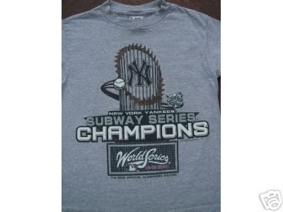 NY YANKEES World Series 2000 Champs YOUTH 10-12 T-SHIRT