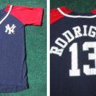 N.Y. YANKEES rodriguez #13 button down YOUTH S(8) SHIRT