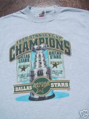 Dallas Stars 99 Stanley Cup Champs Youth 10 12 T Shirt