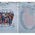 CHAMPIONS ON ICE olympic tour 2002 youth L T-SHIRT kwan