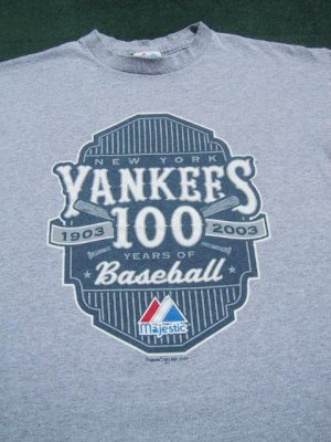 NEW YORK YANKEES 100 years of baseball YOUTH XL(12) T-SHIRT