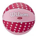 Wilson Pink Polka Dot Jr. Basketbal Size 5