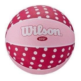 Wilson Pink Polka Dot Jr. Basketbal Size 5