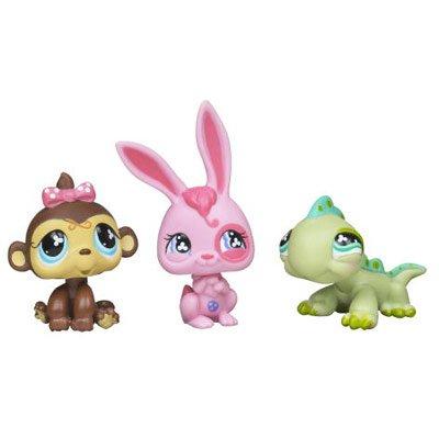 Littlest Pet Shop Spring '08 Tube Bunny Monkey Iguana