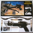 80 Pound Draw Black Crossbow Pistol With Arrows