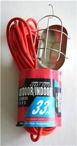 New! - Indoor/Outdoor Drop Light w/33ft. extension cord