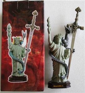New! - Statue of Liberty with Dragon Letter Opener