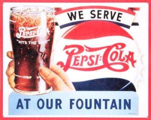 New! -  Pepsi Cola Restaurant Retro Tin Sign