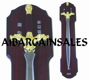 New! - Lionheart Fantasy Sword with wall plaque