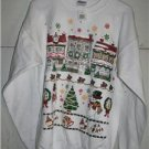 New! - Ladies White Christmas Design Sweatshirt