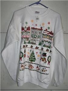 New! - Ladies White Christmas Design Sweatshirt